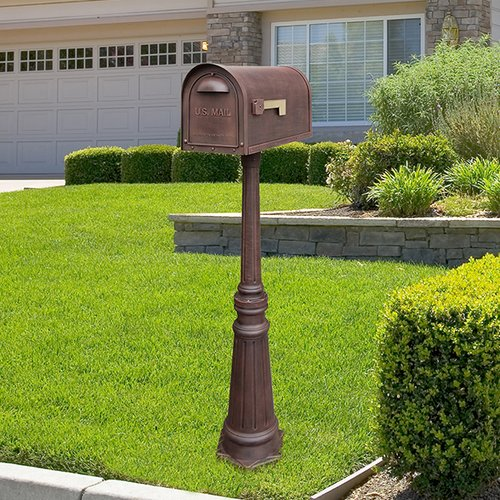 Special Lite Products Classic Mailbox with Post Included