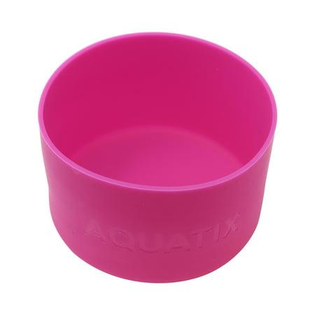Pink - Aquatix Protective Silicone Sleeve for Aquatix 21oz Flip Top Bottles, Anti-Slip Bottom Cover, BPA Free and Dishwasher - Silicon Protective Sleeve
