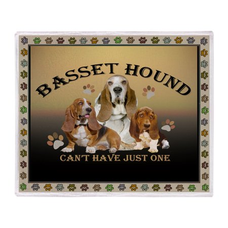 CafePress - Basset Hound Can't Have Just - Soft Fleece Throw Blanket, 50