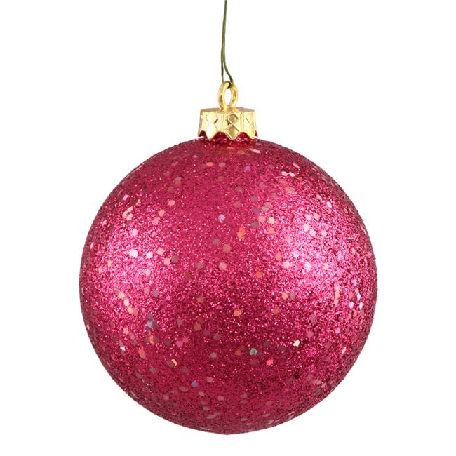 Wine Sequin Drilled Ball Ornament, 4 in. - 6 per Bag - image 1 of 1