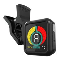 KLIQ UberTuner - Professional Clip-On Tuner for All Instruments (multi-key modes) - with Guitar, Ukulele, Violin, Bass & Chromatic Tuning Modes