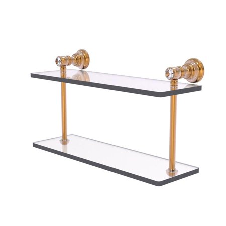 Carolina Crystal Collection 16 In Two Tiered Glass Shelf In Brushed Bronze Walmart Com Walmart Com