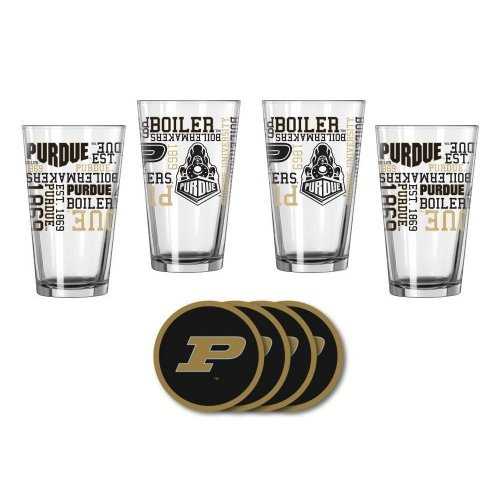 Purdue Boilermakers Spirit Glassware Gift Set by