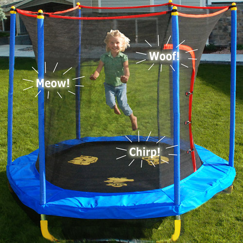 Generic Bounce - n - learn Interactive 7 Ft Kids Trampoline By Skywalker