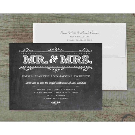 Mr and Mrs Rustic Deluxe Wedding Invitation](Wedding Invitations Rustic)