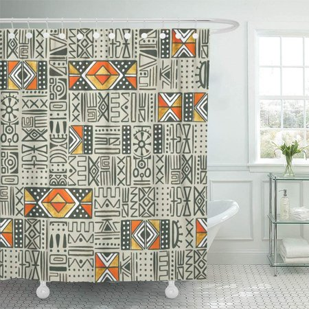 BSDHOME Ethnic Colorful Aztec Pattern Watercolor Tribal Diamond Mexico Abstract American Bathroom Shower Curtain 66x72 inch - image 1 of 1