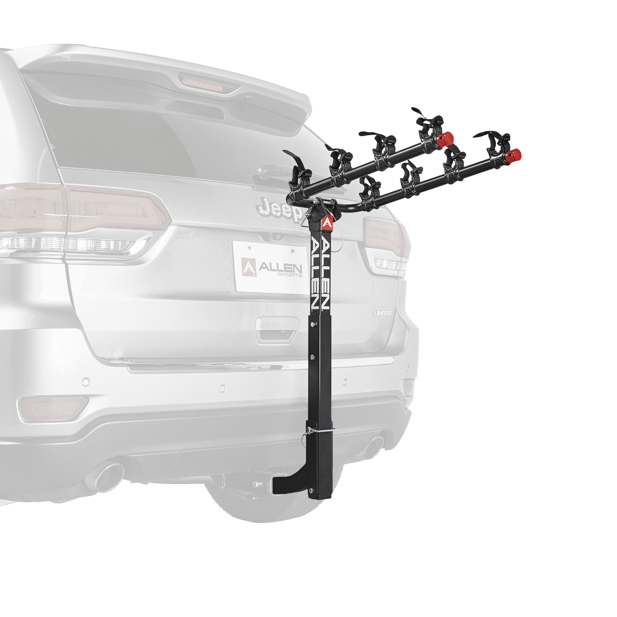 Allen Sports Deluxe 4-Bicycle Hitch Mounted Bike Rack Carrier