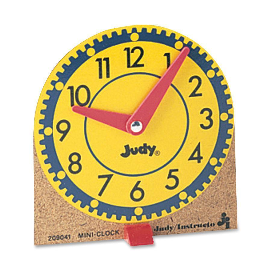 Carson-Dellosa, CDP0768223202, Mini Judy Clocks, 12 / Set, Multi