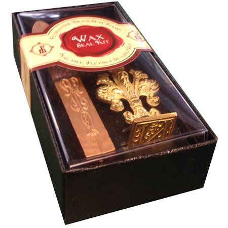 JAM Paper Wax Seal Set, Brass Seal Stamp with Monogram letter N & Wax Stick, Sold - Monogram Seal