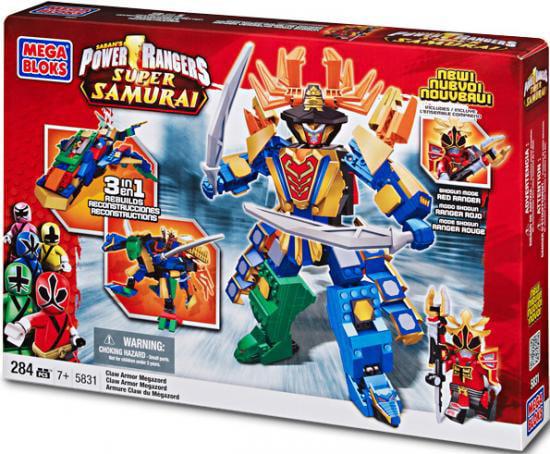 Power Rangers Super Samurai Claw Armor Megazord Set Mega Bloks 5831 by Mega Brands