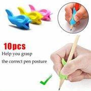 10pcs Handwriting Pencil Grips Holder Posture Correction Tool for Kids Ergonomic