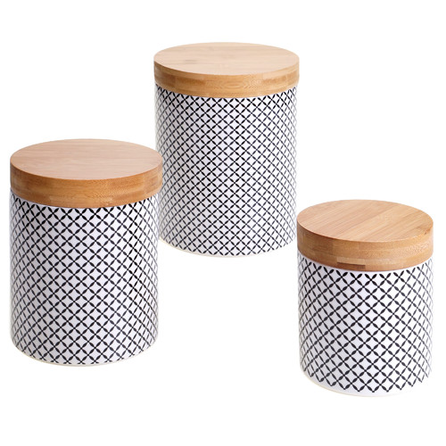 Certified International Chelsea 3 Piece Kitchen Canister Set