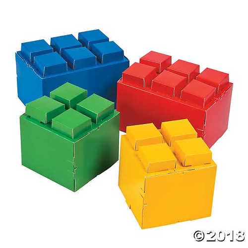 Color Brick Party Centerpieces
