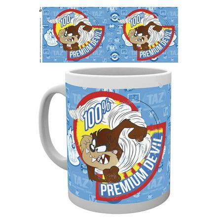 Takes Mug - Looney Tunes - Ceramic Coffee Mug / Cup (Taz / 100% Premium Devil)