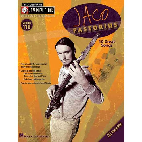 Jaco Pastorius: 10 Great Songs; Book and Cd for B Flat, E Flat, C and Bass Clef Instruments