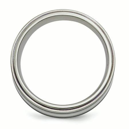 Edward Mirell Titanium w/Argentium Sterling Silver Anodized 10mm Band Size 14 - image 3 de 4