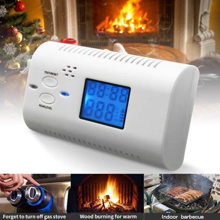 LCD Display Carbon Monoxide Detector Fire Alarm Poisoning Gas Warning Sensor ()