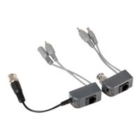 Q-See Power-Video-Audio Balun RJ-45/BNC Transmits Video And Audio