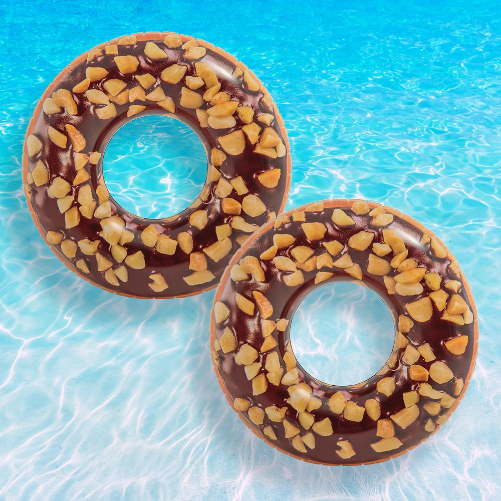 Intex Nutty Chocolate Donut Tube for Swimming Pools