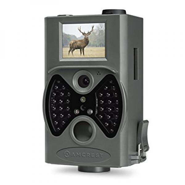 Amcrest ATC-1201G 12MP Digital Game Cam Trail Camera with Integrated 2 LCD Viewscreen, Long Range Night Vision, High-Sensitivity Motion Detection up to 65ft, Detachable Laser Remote, and More