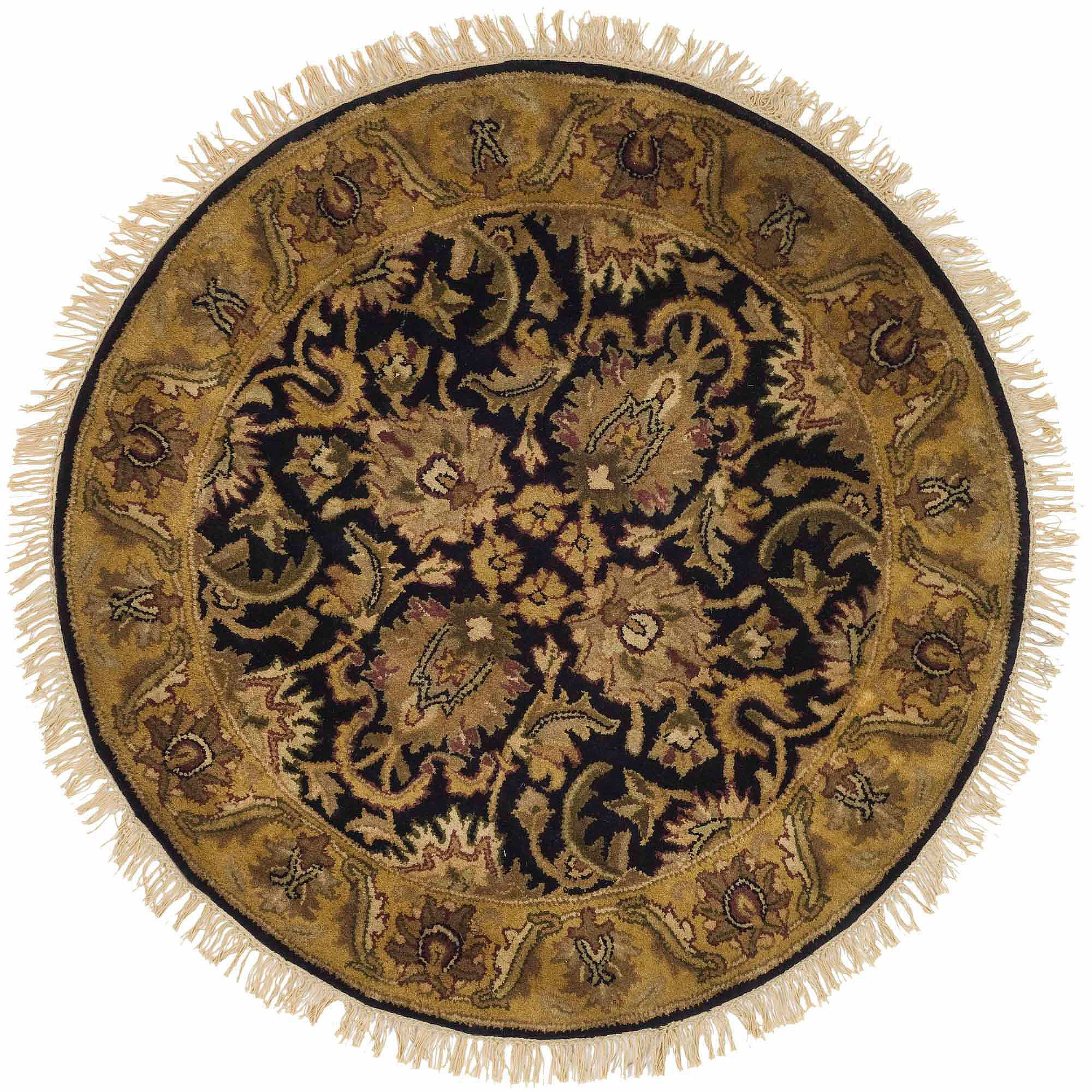 Safavieh Classic Houston Tufted Wool Area Rug, Black/Gold
