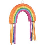 Rainbow Pinata, Pull String, 22.75in x 14.5in