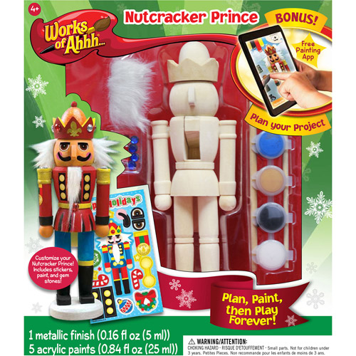 Works of Ahhh... Wood Painting Kit, Nutcracker Prince