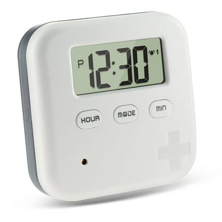 Pill Case Alarm - Dust-proof Separated Pill Organizer Pill Box Case Electronic Timer Alarm Clock Reminder Medicine Storage Dispenser