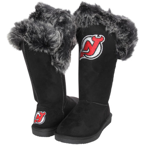 Women's Cuce Black New Jersey Devils Devoted Boots by Cuce Shoes