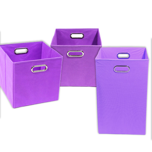 Modern Littles Color Pop Solid 3 Piece Laundry Hamper and...