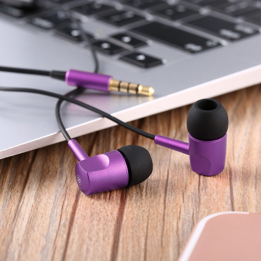 Portable Dynamic Line Control Stereo In-ear Earbuds Earphones with Mic 3.5mm