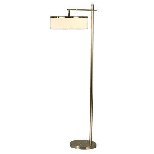 Nova 1321RW Flip Floor Lamp - Brushed Nickel