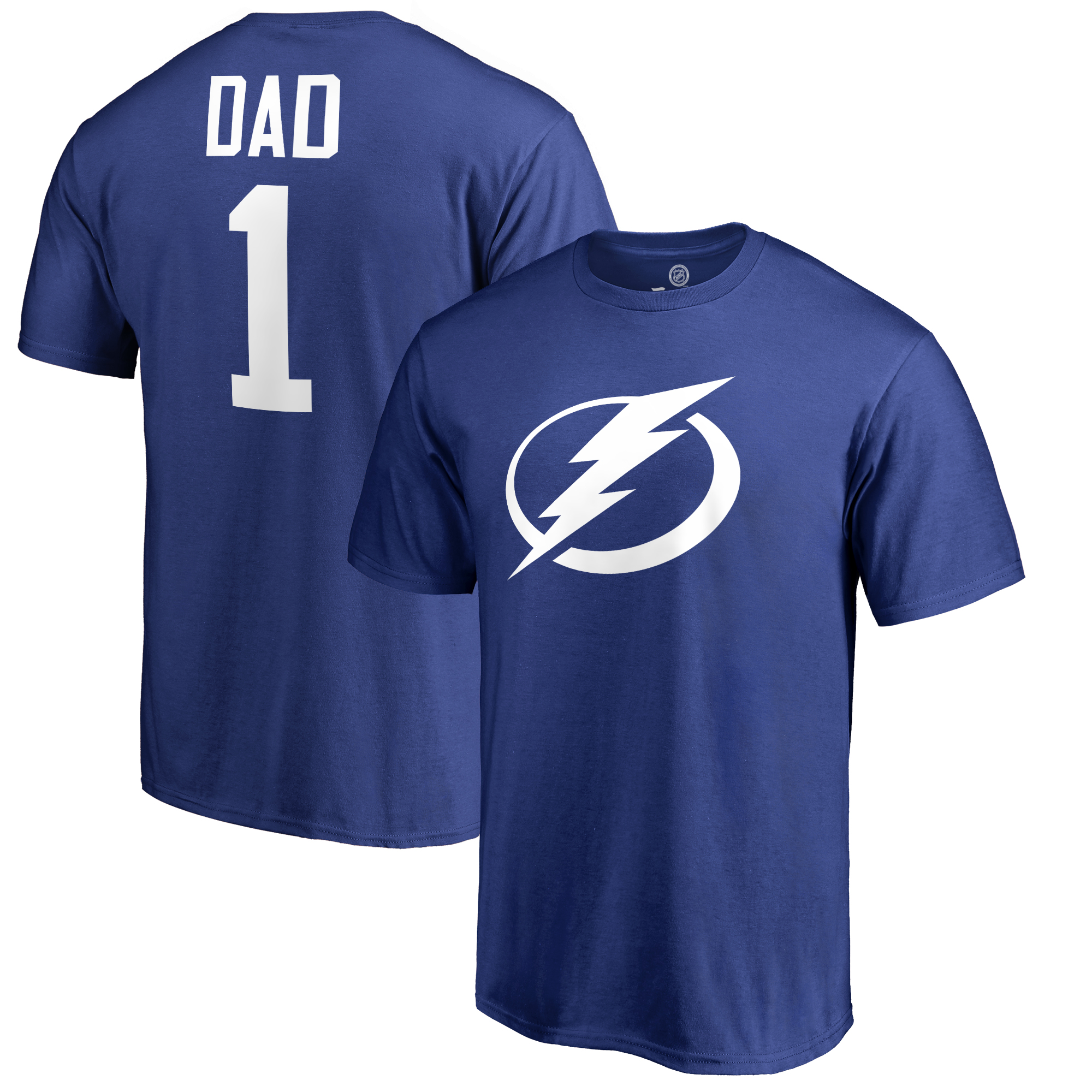 Tampa Bay Lightning Fanatics Branded Number One Dad T-Shirt - Royal