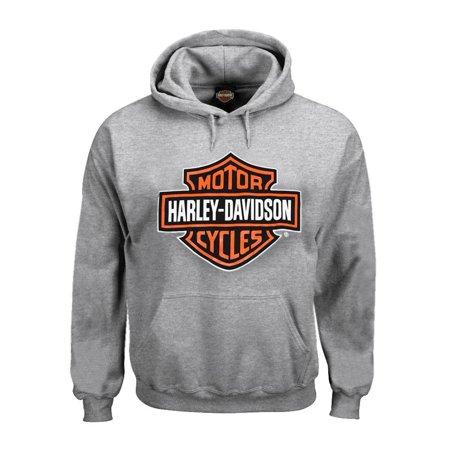 3X-Large Men's Sweatshirt, Bar & Shield Hoodie, Gray (3XL) 30296627
