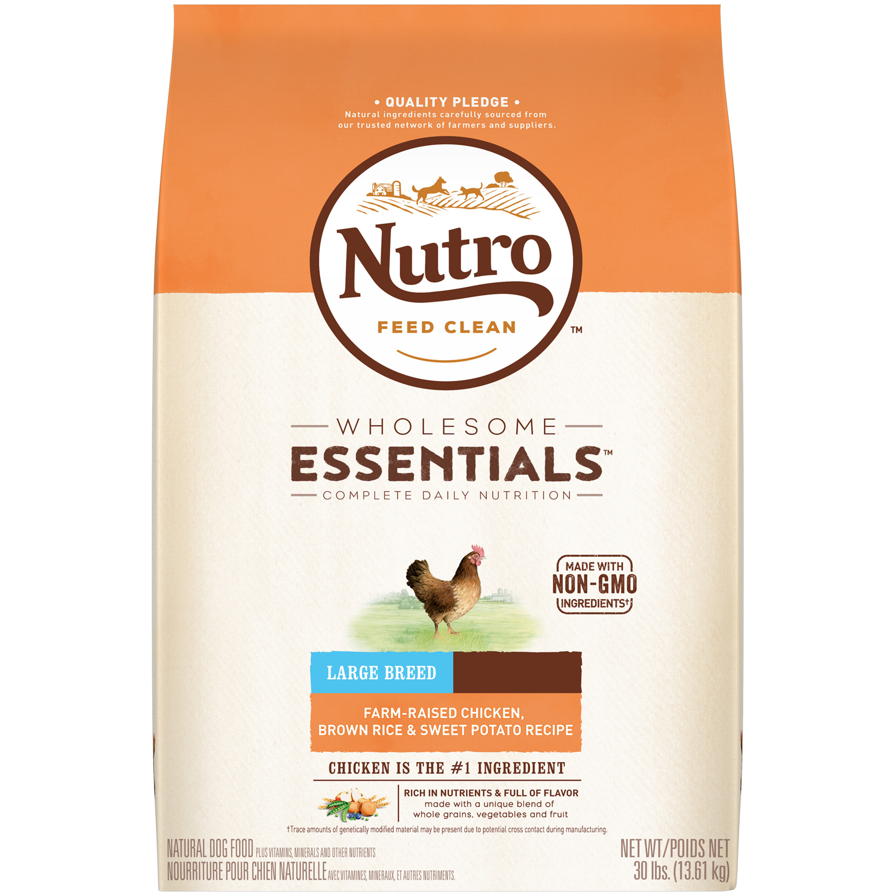 Nutro wholesome essentials large breed adult dry dog food farm nutro wholesome essentials large breed adult dry dog food farm raised chicken brown rice sweet potato recipe 30 lb walmart forumfinder Image collections