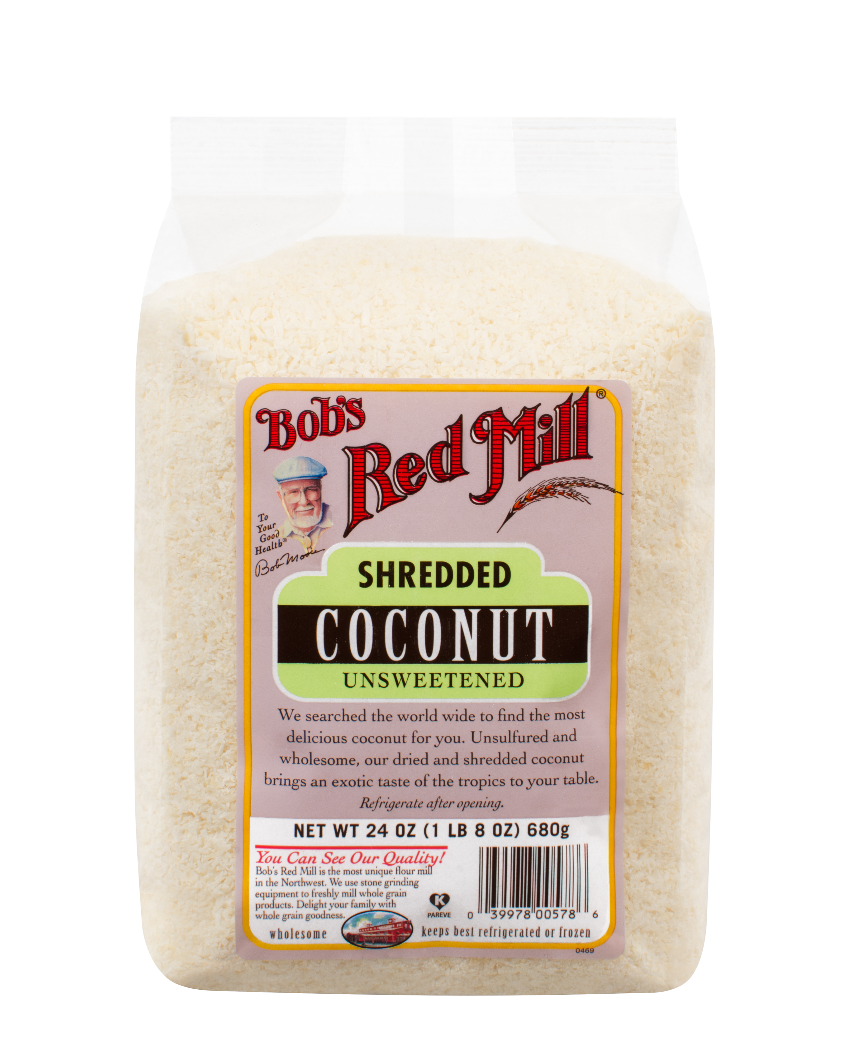 Bobs Red Mill Unsweetened Coconut, Shredded, 24 Oz by Bob'S Red Mill