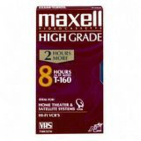 Maxell 224510 Premium High-Grade VHS Video Tapes, 8 Hours