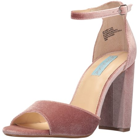 Betsey Johnson Womens Carly Open Toe Casual Ankle Strap Blush Velvet Size 85