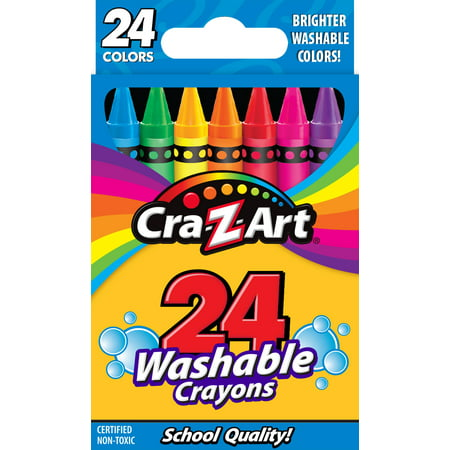 Cra-Z-Art 24 Count School Quality Washable Crayons