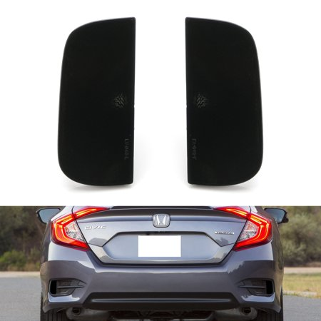 iJDMTOY OE-Spec LH RH Smoked Lens Rear Bumper Reflector Lens Assy For 2016-up 10th Gen Honda Civic Sedan/Coupe