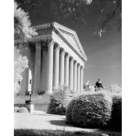 - 1970s Infrared Photograph Front Of Supreme Court Building Washington Dc Usa Poster Print By Vintage Collection