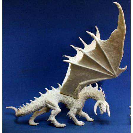 Reaper Miniatures Ebonwrath, Dragon #77102 Bones Unpainted Plastic Mini Figure