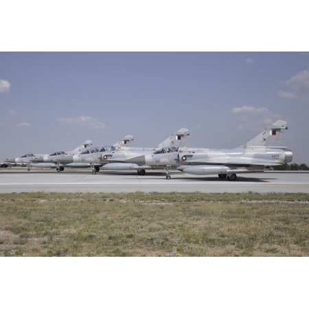 A group of Dassault Mirage 2000-5EDADDA of the Qatar Emiri Air Force ready for take-off at Konya Air Base Turkey during Exercise Anatolian Eagle 2014 Poster