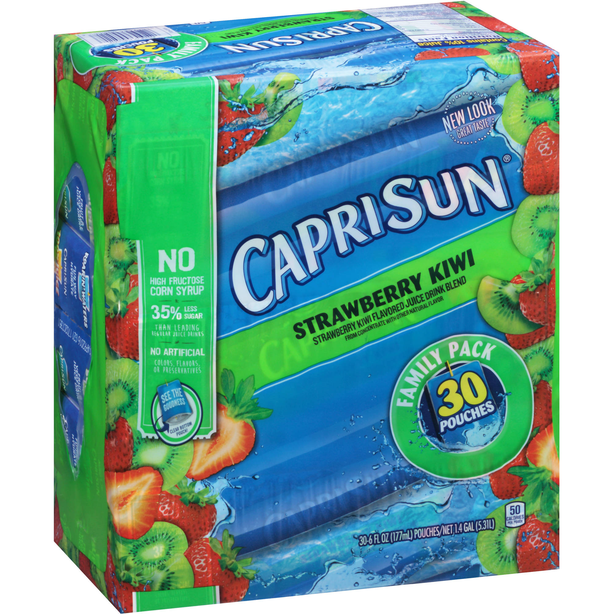 Capri Sun Strawberry Kiwi Juice Drink, 6 fl oz, 30 count