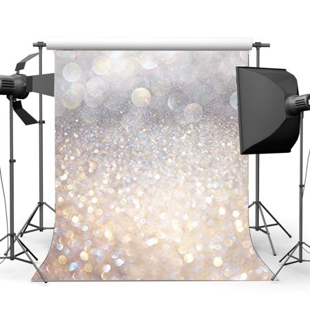 GreenDecor Polyster 5x7ft Silver Bokeh Backdrop Valentine's Day Glitter Sequins Sparkle Spots Romantic Wallpaper Photography Background Baby Girls Lover Wedding Party Decoration Photo Studio Props](Baby Girl Background)