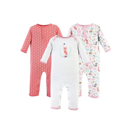One-Piece Rompers, 3-pack (Baby Girls) (Hudson Romper)