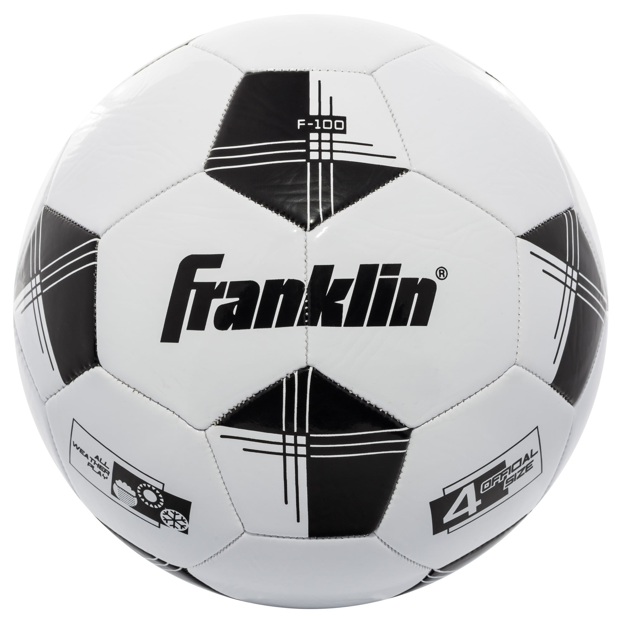 Franklin sports competition 100 soccer ball size 4 black and white walmart com