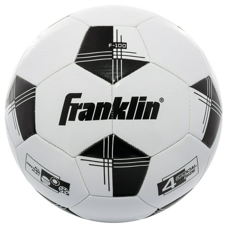 Franklin Sports Competition 100 Soccer Ball, Size 4, Black and (Franklin L'halloween)