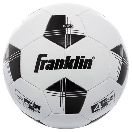 Franklin Sports Competition 100 Soccer Ball, Size 4, Black and White](Soccer Ball Stress Ball)