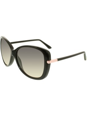4fa24a9823f Product Image Women s Linda FT0324-01B-59 Black Cat Eye Sunglasses. Tom Ford